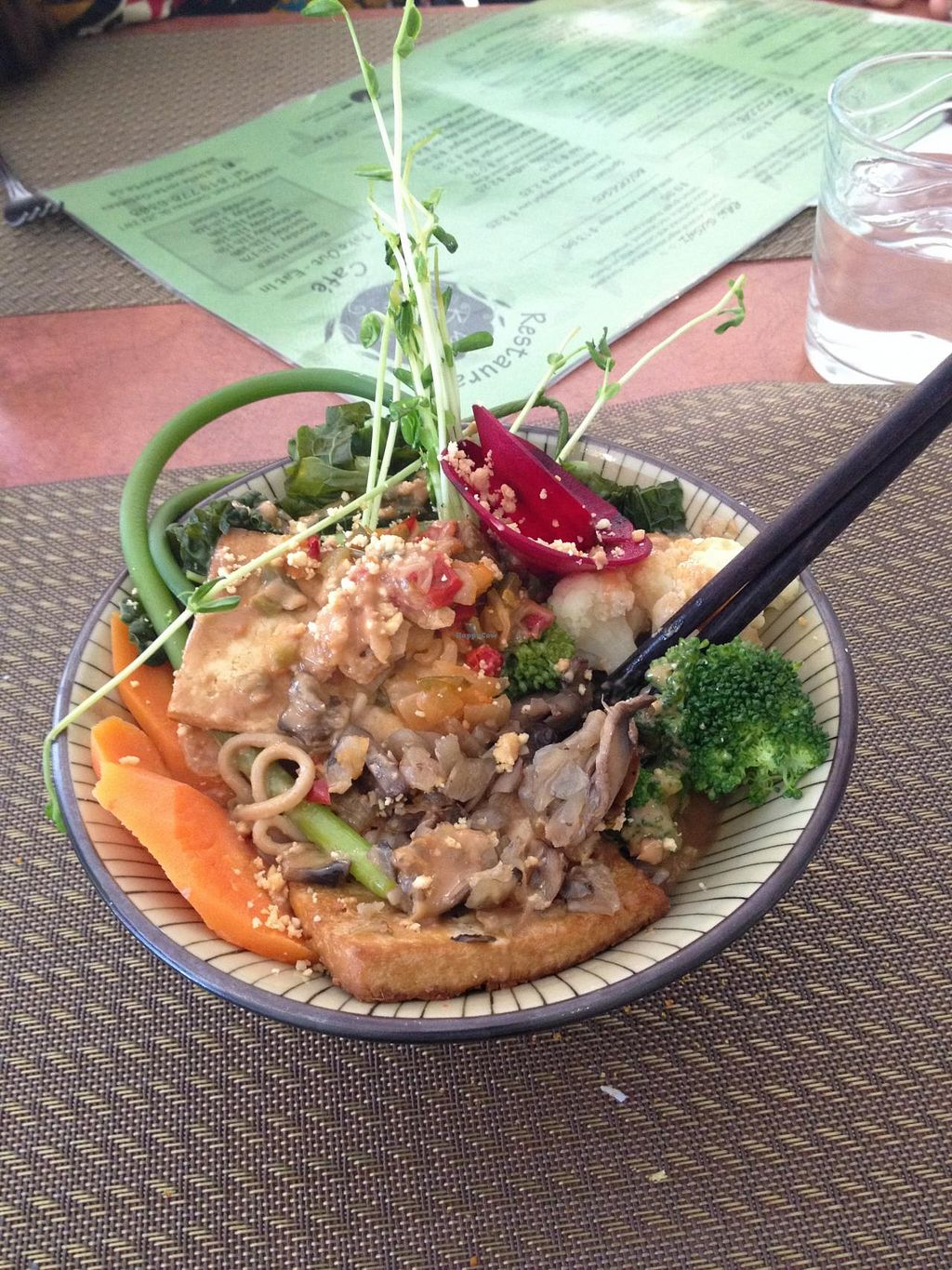 "Photo of La Belle Verte  by <a href=""/members/profile/bananah6"">bananah6</a> <br/>Belle Verte Buddah Bowl with peanut sauce, soba noodles, tofu and vegetables <br/> July 7, 2014  - <a href='/contact/abuse/image/20235/73450'>Report</a>"