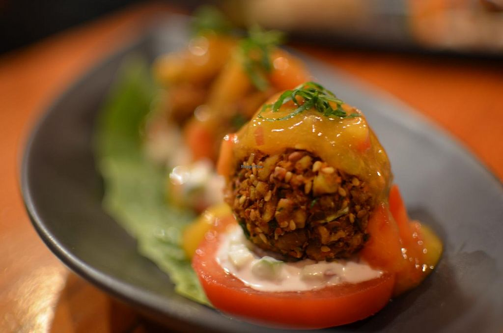 """Photo of Yong Green Food  by <a href=""""/members/profile/chocoholicPhilosophe"""">chocoholicPhilosophe</a> <br/>Raw pecan falafel <br/> May 2, 2015  - <a href='/contact/abuse/image/20267/100880'>Report</a>"""