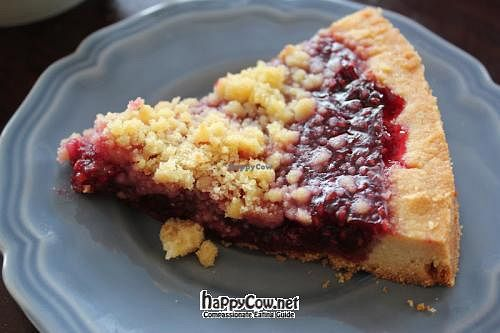 """Photo of CLOSED: Fritz Pastry  by <a href=""""/members/profile/veganmiss"""">veganmiss</a> <br/>vegan raspberry tart <br/> June 20, 2012  - <a href='/contact/abuse/image/20269/33553'>Report</a>"""