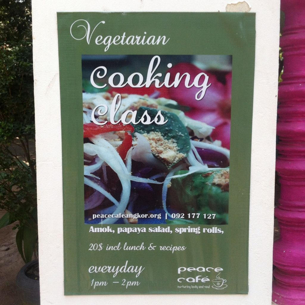 """Photo of Peace Cafe  by <a href=""""/members/profile/Arvid"""">Arvid</a> <br/>Vegetarian cooking class daily at 1pm <br/> February 12, 2016  - <a href='/contact/abuse/image/20271/135853'>Report</a>"""