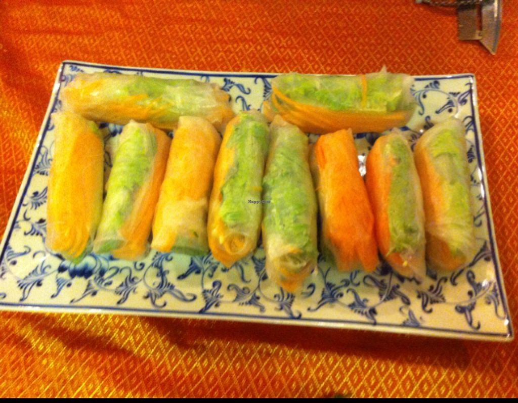 """Photo of Peace Cafe  by <a href=""""/members/profile/Arvid"""">Arvid</a> <br/>Fresh spring rolls (made in cooking class) <br/> February 12, 2016  - <a href='/contact/abuse/image/20271/135855'>Report</a>"""
