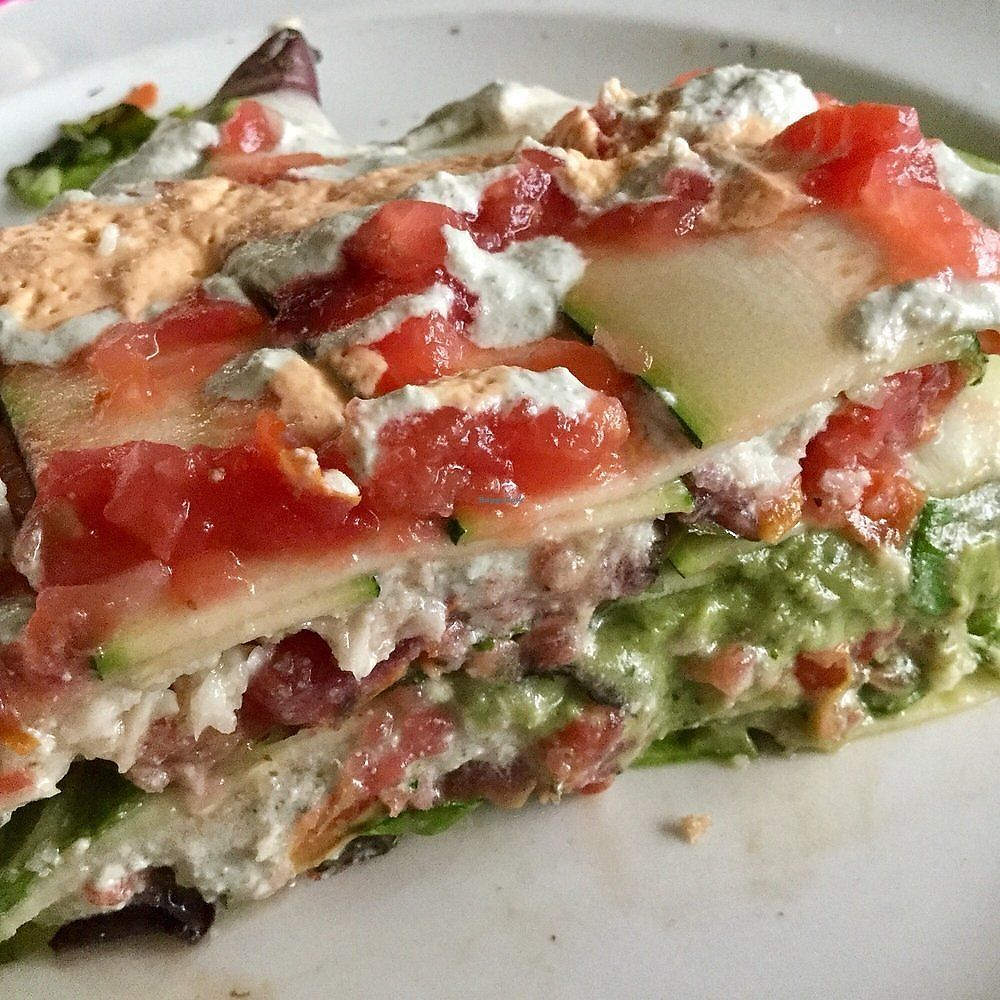 """Photo of Cruda Cafe  by <a href=""""/members/profile/signe"""">signe</a> <br/>Mamamia Lasagne. There was no kale pesto as described, but the avocado made up for it <br/> January 7, 2018  - <a href='/contact/abuse/image/20275/344090'>Report</a>"""
