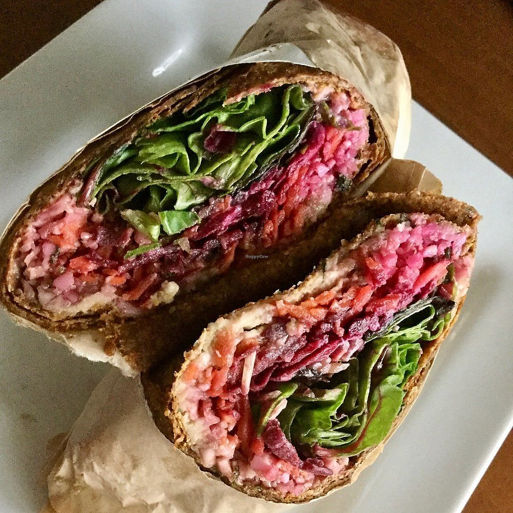 """Photo of Cruda Cafe  by <a href=""""/members/profile/signe"""">signe</a> <br/>Wrap. The paté was forgotten and cauliflower rice used instead, which was kinda a bummer but still pretty good <br/> January 7, 2018  - <a href='/contact/abuse/image/20275/344091'>Report</a>"""