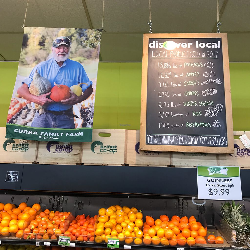 """Photo of Belfast Food Co-op  by <a href=""""/members/profile/Sarah%20P"""">Sarah P</a> <br/>Local produce stats <br/> March 2, 2018  - <a href='/contact/abuse/image/2027/365823'>Report</a>"""