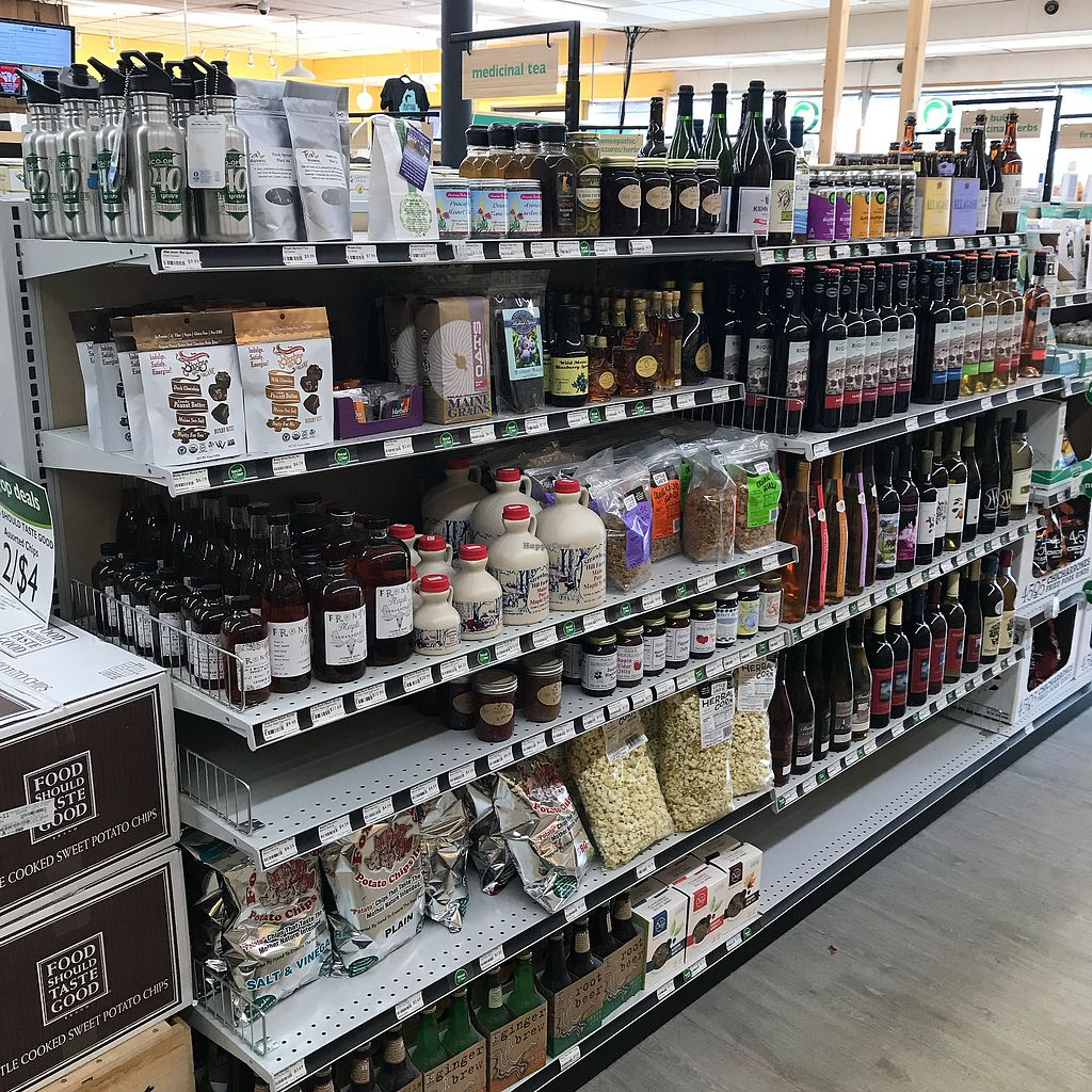 """Photo of Belfast Food Co-op  by <a href=""""/members/profile/Sarah%20P"""">Sarah P</a> <br/>Bottled goods <br/> March 2, 2018  - <a href='/contact/abuse/image/2027/365826'>Report</a>"""
