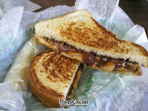 """Photo of Valpo Velvet  by <a href=""""/members/profile/happycowgirl"""">happycowgirl</a> <br/>Nutty Monkey King (grilled Nutella, peanut butter and banana) <br/> July 8, 2012  - <a href='/contact/abuse/image/20458/34260'>Report</a>"""
