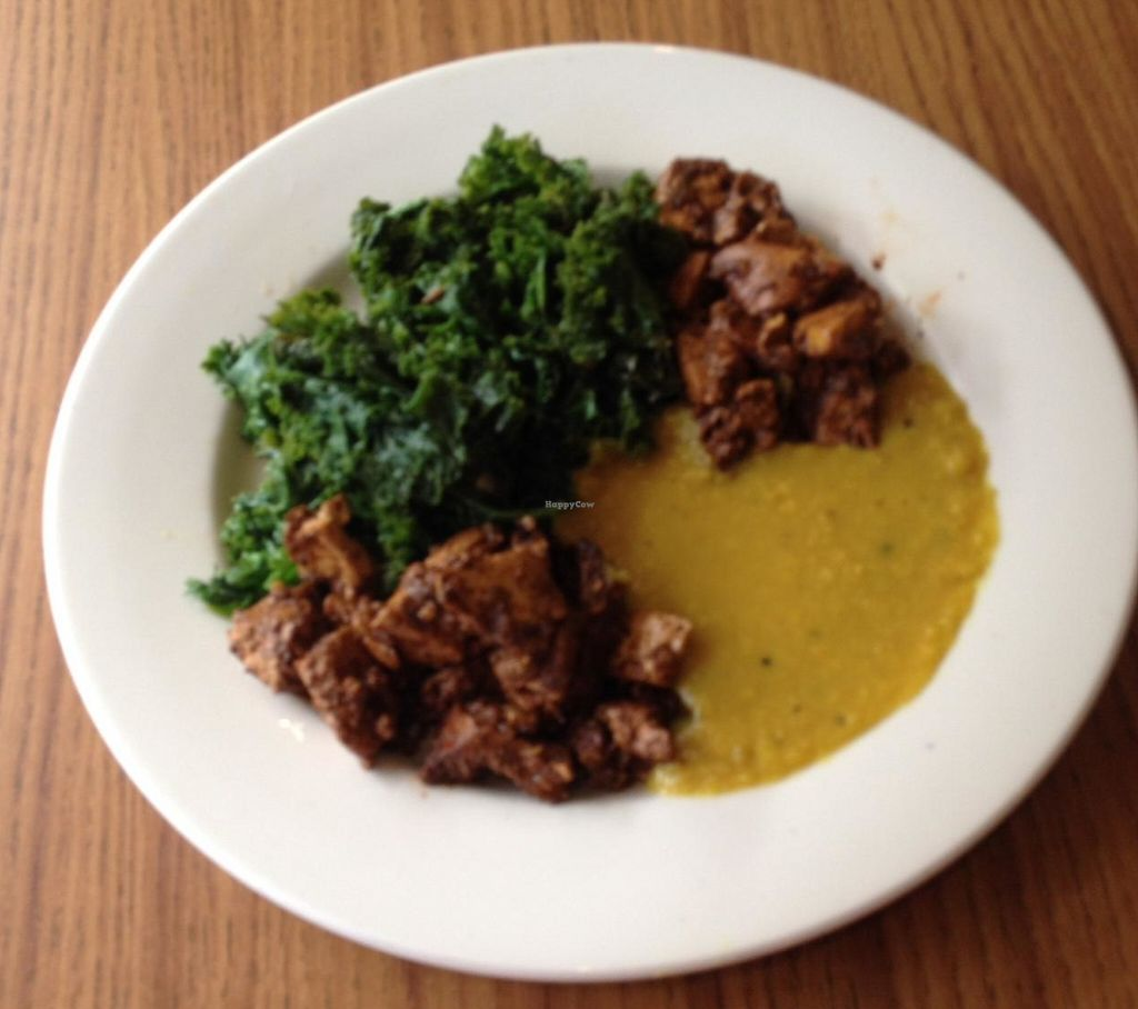 """Photo of CLOSED: Fire & Spice Vegan Restaurant - Sisson Ave  by <a href=""""/members/profile/Jeopardy"""">Jeopardy</a> <br/>Amazing: Jerk Tofu, Lentil Dahl, Steamed Kale <br/> July 24, 2015  - <a href='/contact/abuse/image/20479/191396'>Report</a>"""
