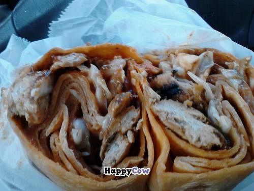 "Photo of Yorgo's Bageldashery  by <a href=""/members/profile/LmtWetmoney"">LmtWetmoney</a> <br/>Vegan BBQ Chicken and cold slaw in a sundried tomato wrap! real delicious <br/> November 3, 2013  - <a href='/contact/abuse/image/20490/57826'>Report</a>"