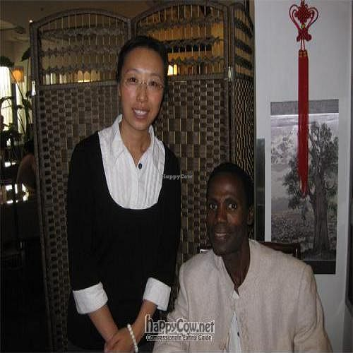 """Photo of Tianchu Miaoxiang Vegetarian - Chaowai  by <a href=""""/members/profile/jamaicaninchina"""">jamaicaninchina</a> <br/>Jamaican in China and Manager Christina <br/> September 1, 2010  - <a href='/contact/abuse/image/20508/5680'>Report</a>"""