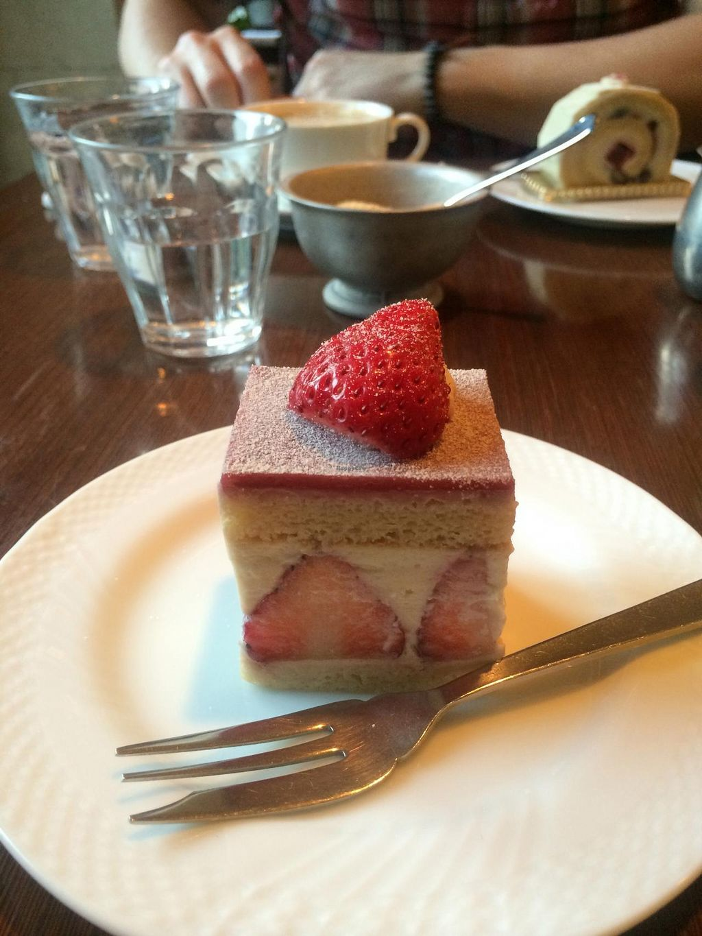 """Photo of Chaya Macrobiotics - Isetan Shinjuku  by <a href=""""/members/profile/Meggie%20and%20Ben"""">Meggie and Ben</a> <br/>Strawberry shortcake (the best one of their desserts!) <br/> December 31, 2014  - <a href='/contact/abuse/image/20523/89107'>Report</a>"""