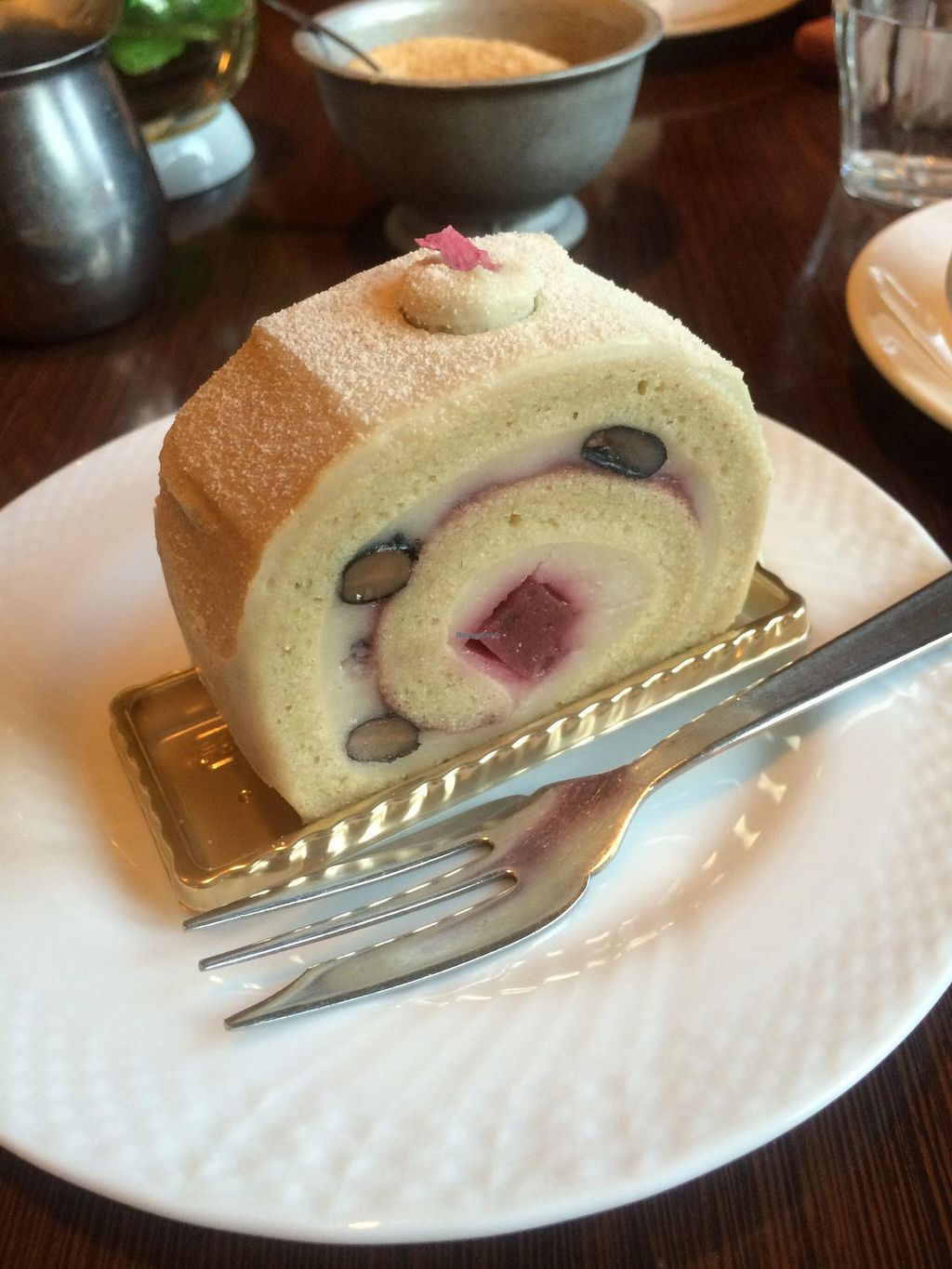 """Photo of Chaya Macrobiotics - Isetan Shinjuku  by <a href=""""/members/profile/Meggie%20and%20Ben"""">Meggie and Ben</a> <br/>Sakura roll cake <br/> December 31, 2014  - <a href='/contact/abuse/image/20523/89108'>Report</a>"""
