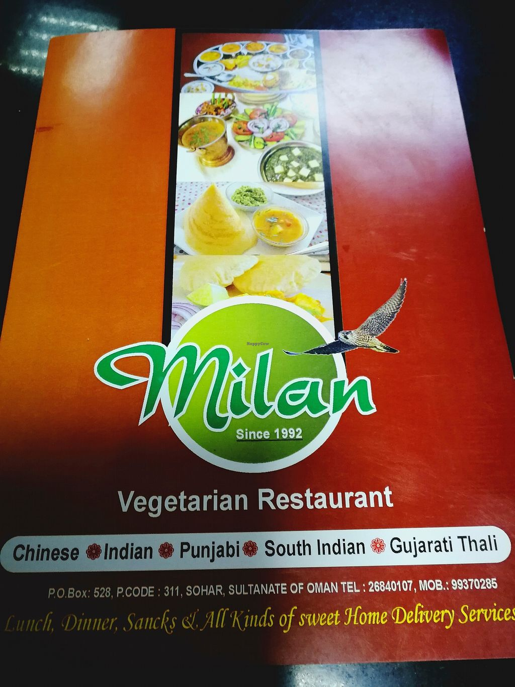 """Photo of Milan Restaurant  by <a href=""""/members/profile/Gudrun"""">Gudrun</a> <br/>The menu <br/> October 23, 2017  - <a href='/contact/abuse/image/20559/318048'>Report</a>"""