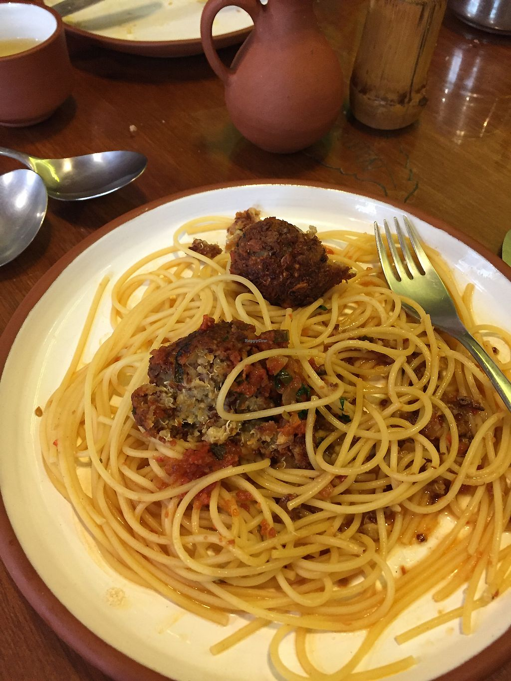"Photo of Namas Te  by <a href=""/members/profile/Dianebg"">Dianebg</a> <br/>Spaghetti with quinoa balls  <br/> September 22, 2017  - <a href='/contact/abuse/image/20563/307169'>Report</a>"