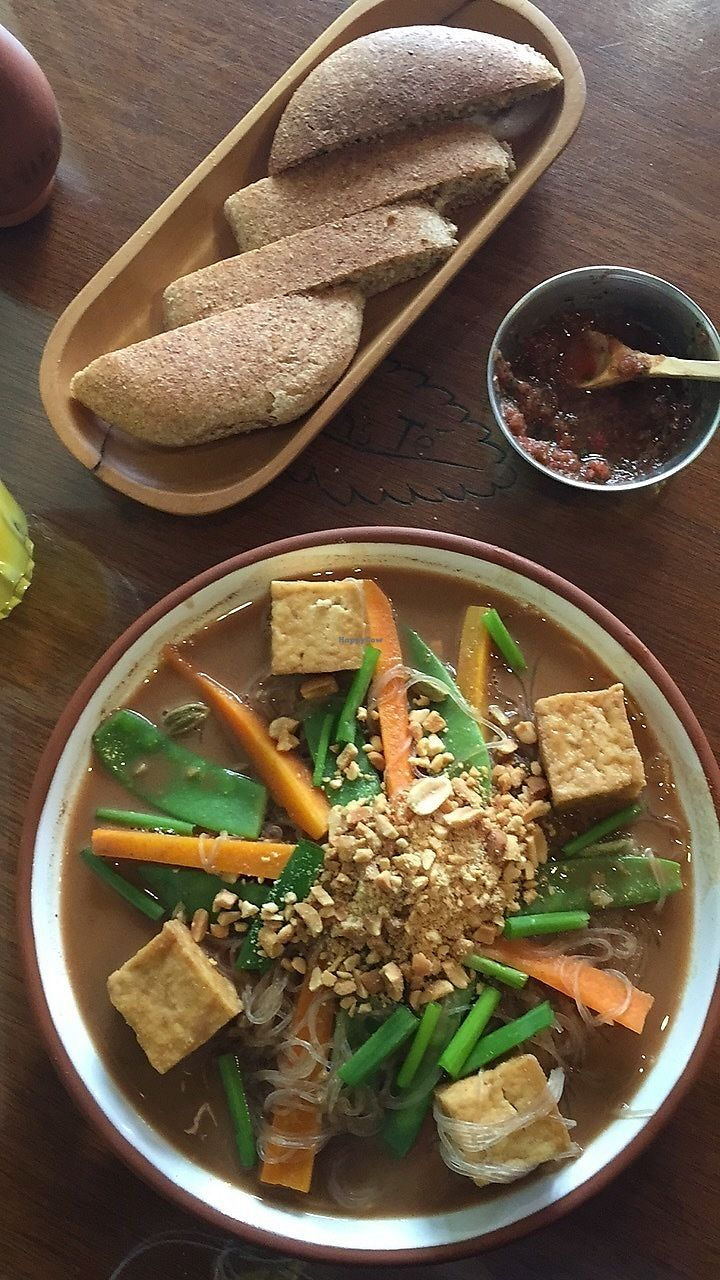 "Photo of Namas Te  by <a href=""/members/profile/AmaliaZindilis"">AmaliaZindilis</a> <br/>Peanut tofu noodles <br/> October 9, 2017  - <a href='/contact/abuse/image/20563/313608'>Report</a>"
