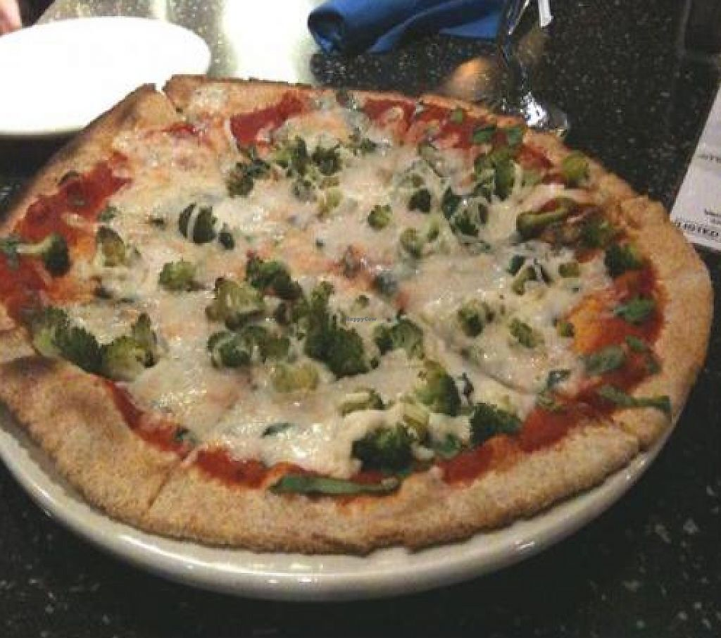 """Photo of Brixx Wood Fired Pizza  by <a href=""""/members/profile/suecag"""">suecag</a> <br/>Vegan Pizza with Spinach & Broccoli <br/> December 11, 2011  - <a href='/contact/abuse/image/20613/198981'>Report</a>"""