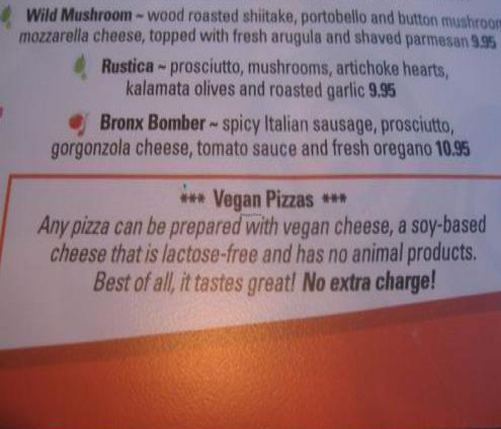 """Photo of Brixx Wood Fired Pizza  by <a href=""""/members/profile/suecag"""">suecag</a> <br/>Brixx vegan option menu listing <br/> April 28, 2010  - <a href='/contact/abuse/image/20613/215200'>Report</a>"""