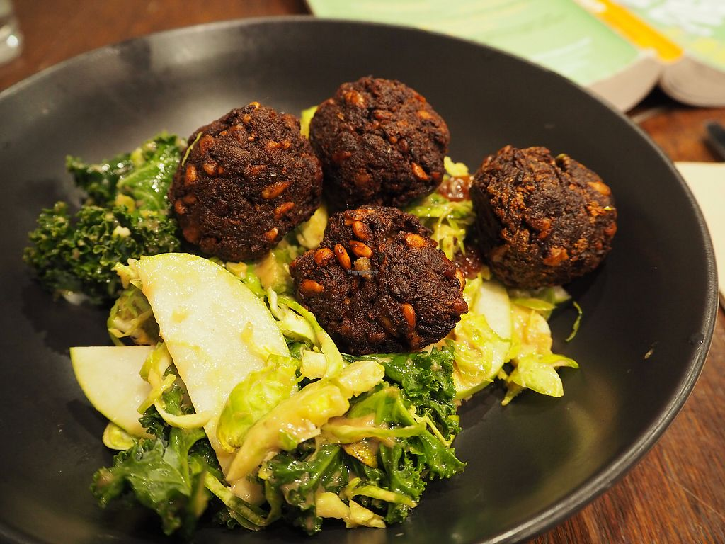 """Photo of Southern Cross Garden Bar Restaurant  by <a href=""""/members/profile/citizenInsane"""">citizenInsane</a> <br/>Mushroom & walnuts neat balls (v) <br/> August 20, 2017  - <a href='/contact/abuse/image/20619/294662'>Report</a>"""