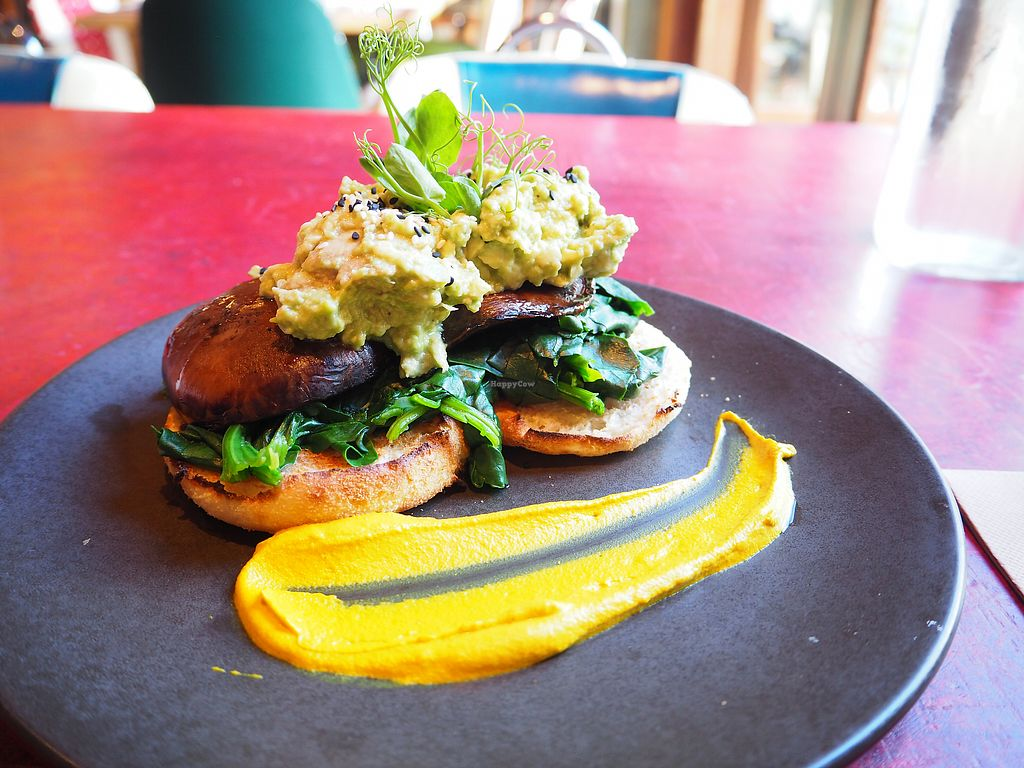 """Photo of Southern Cross Garden Bar Restaurant  by <a href=""""/members/profile/citizenInsane"""">citizenInsane</a> <br/>Portobello & avocado on english muffin <br/> August 20, 2017  - <a href='/contact/abuse/image/20619/294667'>Report</a>"""