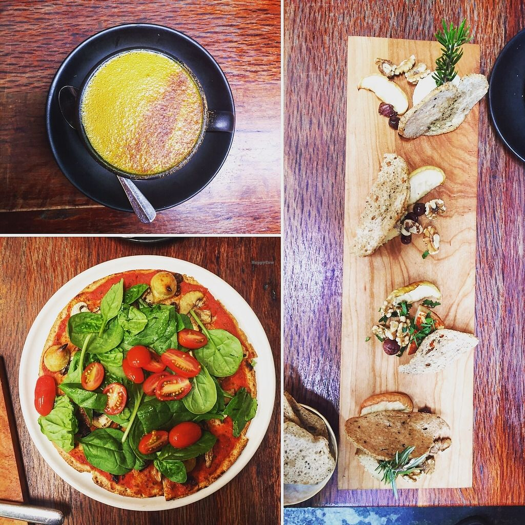 """Photo of The Raw Kitchen  by <a href=""""/members/profile/AnastaciaJanowska"""">AnastaciaJanowska</a> <br/>vegan cheese plate and pizza <br/> April 5, 2018  - <a href='/contact/abuse/image/20645/381149'>Report</a>"""