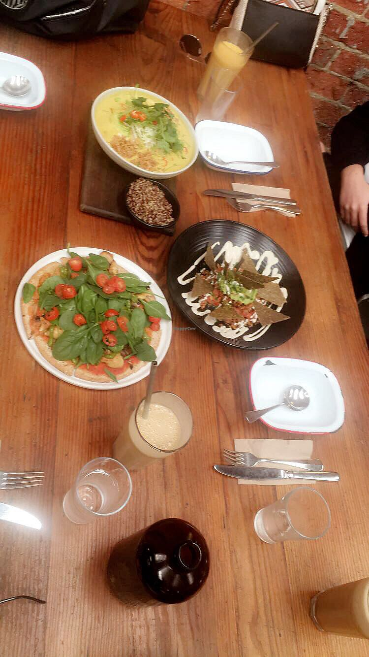 """Photo of The Raw Kitchen  by <a href=""""/members/profile/itsmebyrnes"""">itsmebyrnes</a> <br/>Raw Nachos, Raw Mediterranian Pizza,Raw Yellow Curry <br/> April 26, 2018  - <a href='/contact/abuse/image/20645/391217'>Report</a>"""