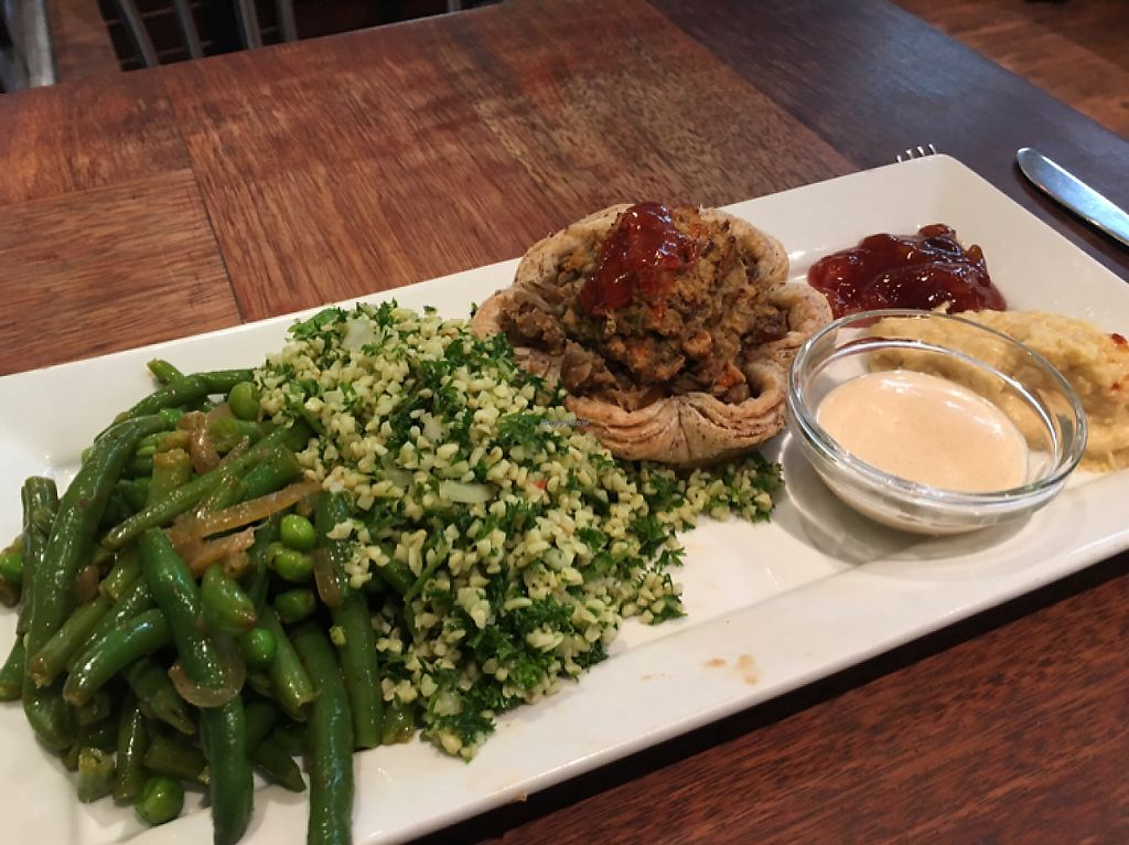 "Photo of Habebes Cafe  by <a href=""/members/profile/AimeeS"">AimeeS</a> <br/>Lentil pie w/sides of tabbouleh and green beans <br/> May 6, 2017  - <a href='/contact/abuse/image/20646/256118'>Report</a>"