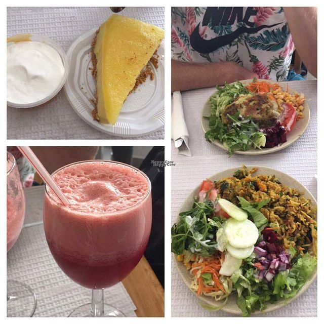 """Photo of Vegetarianus  by <a href=""""/members/profile/EmilChristianJensen"""">EmilChristianJensen</a> <br/>Two dishes, some fresh juice and dessert - 19€!! :) <br/> October 18, 2016  - <a href='/contact/abuse/image/20648/182795'>Report</a>"""