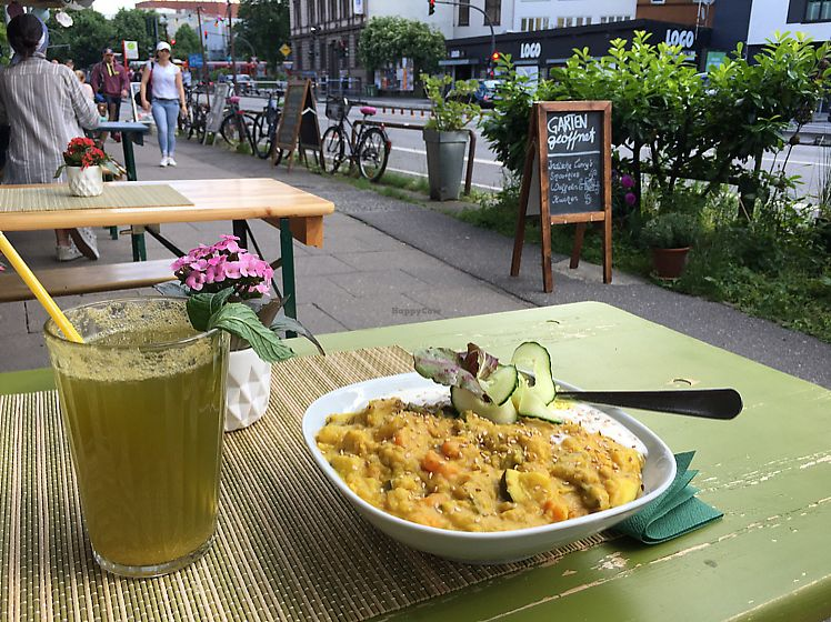 """Photo of Golden Temple Teehaus  by <a href=""""/members/profile/RichardAoun"""">RichardAoun</a> <br/>curry dish and orange sparkling lemonade <br/> June 14, 2017  - <a href='/contact/abuse/image/20660/269179'>Report</a>"""
