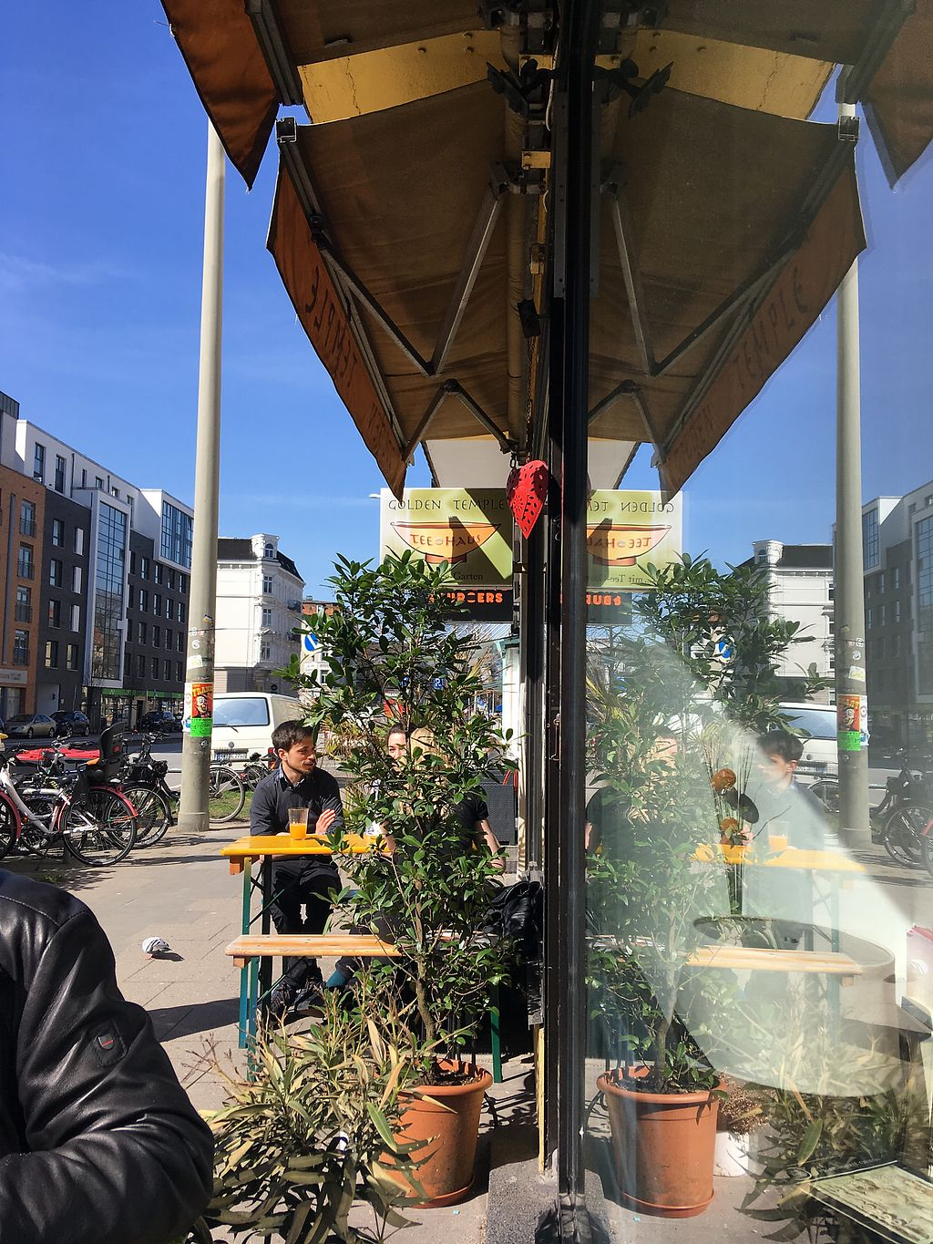 """Photo of Golden Temple Teehaus  by <a href=""""/members/profile/Delusa"""">Delusa</a> <br/>A few table outside, perfect with nice weather <br/> April 6, 2018  - <a href='/contact/abuse/image/20660/381530'>Report</a>"""