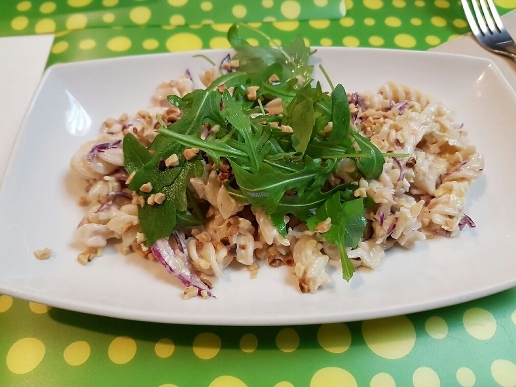 """Photo of Loving Hut  by <a href=""""/members/profile/Palabradediva"""">Palabradediva</a> <br/>Pasta con veganesa y remolacha <br/> December 10, 2016  - <a href='/contact/abuse/image/20669/198930'>Report</a>"""