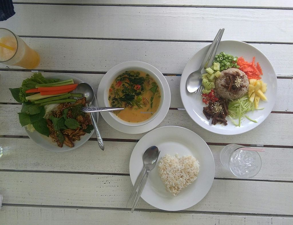 """Photo of Dok Bua Vegetarian - Lotus Vegetarian  by <a href=""""/members/profile/Audreystl"""">Audreystl</a> <br/>Mock -Duck Salad Curry And  a bean paste salad <br/> August 7, 2017  - <a href='/contact/abuse/image/20705/290004'>Report</a>"""