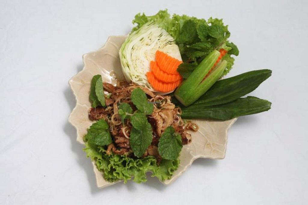 """Photo of Dok Bua Vegetarian - Lotus Vegetarian  by <a href=""""/members/profile/RinaEva"""">RinaEva</a> <br/>Mushrooms with lemongrass <br/> January 27, 2015  - <a href='/contact/abuse/image/20705/91460'>Report</a>"""