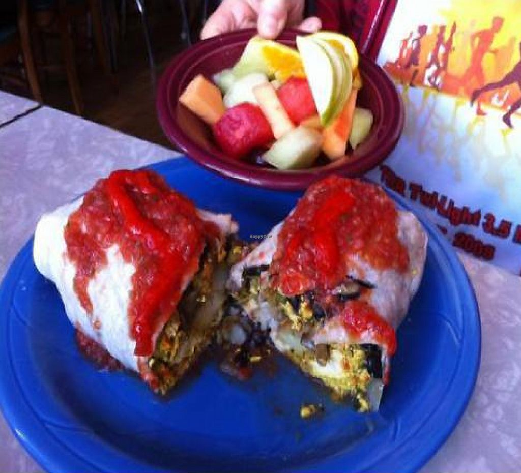 """Photo of Cafe 821  by <a href=""""/members/profile/smylly"""">smylly</a> <br/>vegan breakfast burrito <br/> October 22, 2011  - <a href='/contact/abuse/image/20708/192566'>Report</a>"""