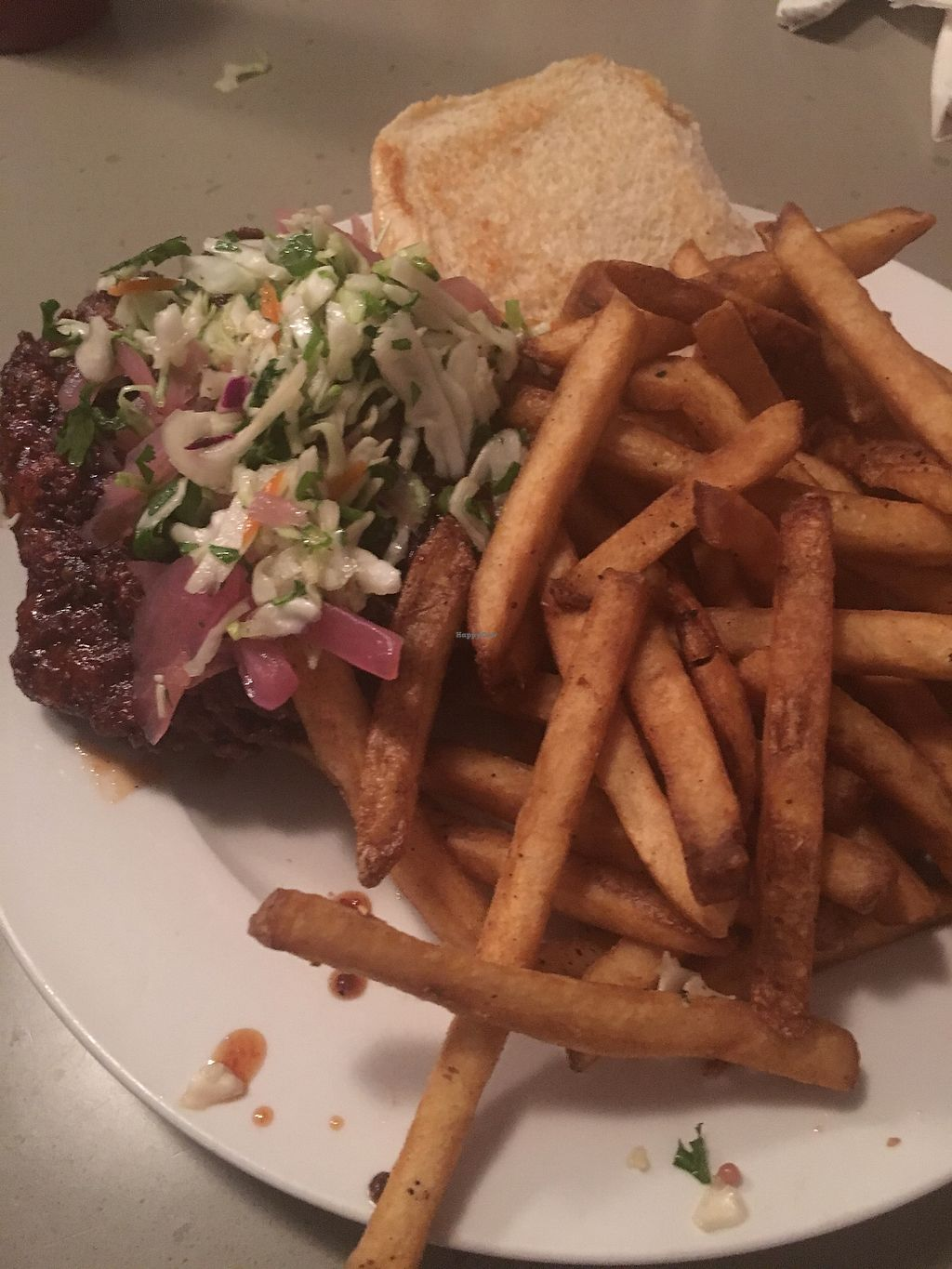 """Photo of Cafe 821  by <a href=""""/members/profile/mem2024"""">mem2024</a> <br/>Vegan Fried Chicken Sandwich - SO GOOD <br/> January 28, 2018  - <a href='/contact/abuse/image/20708/351844'>Report</a>"""
