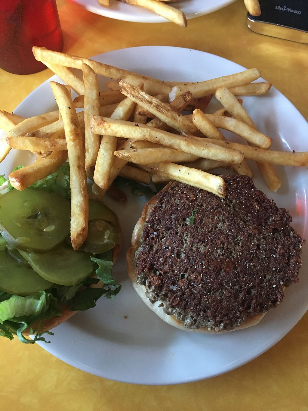 """Photo of Cafe 821  by <a href=""""/members/profile/mem2024"""">mem2024</a> <br/>Impossible burger - tastes like a Big Mac!!! <br/> February 4, 2018  - <a href='/contact/abuse/image/20708/354955'>Report</a>"""