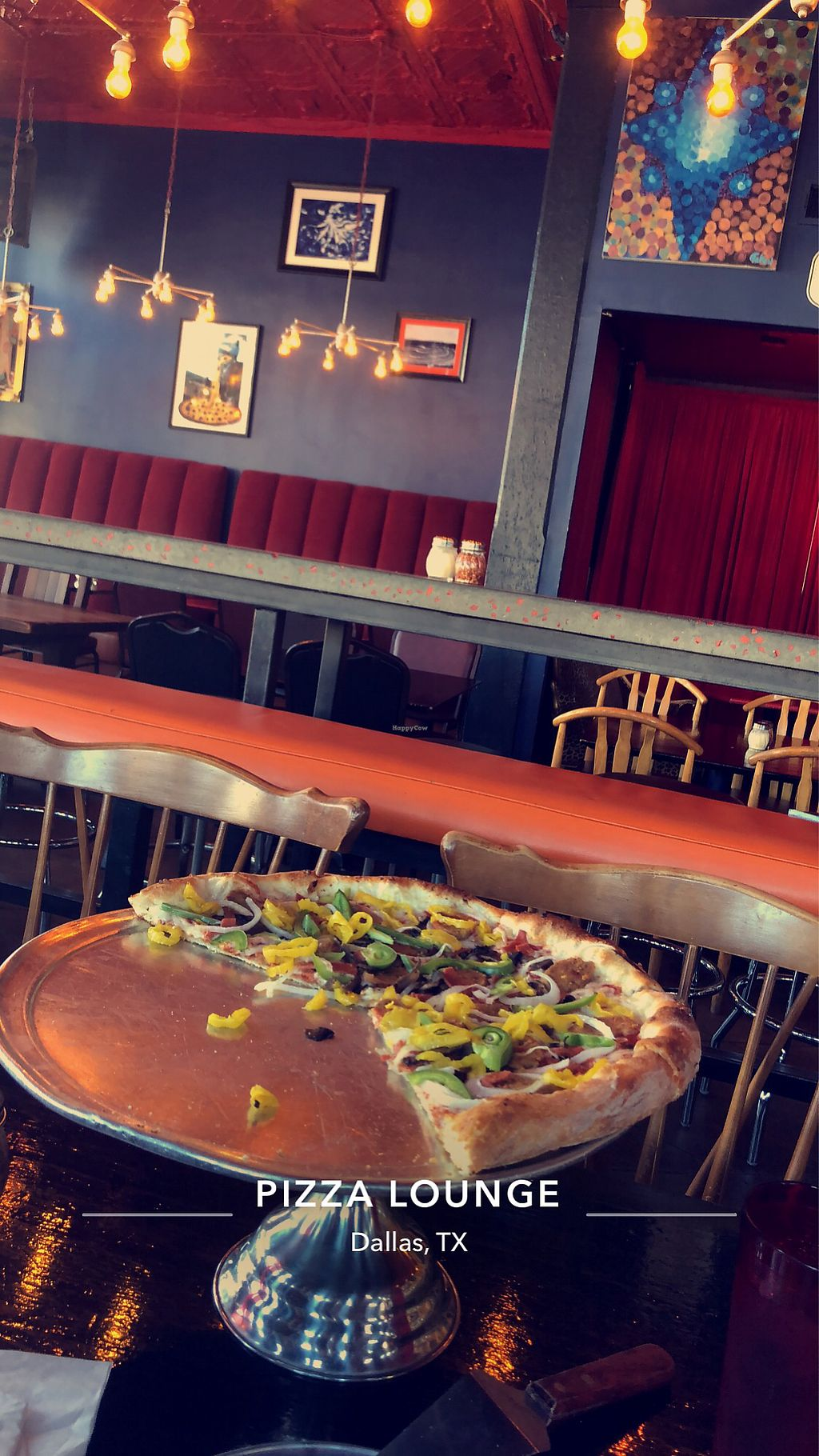 """Photo of Pizza Lounge  by <a href=""""/members/profile/forevercarli"""">forevercarli</a> <br/>Vegan Sofa King pizza  <br/> March 2, 2018  - <a href='/contact/abuse/image/20710/365932'>Report</a>"""