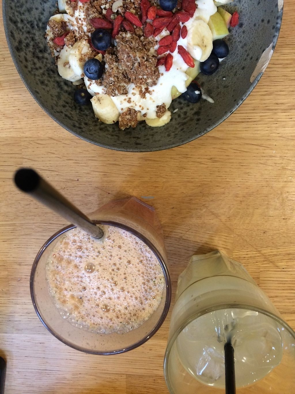 """Photo of 42 Degrees Raw - Pilestaede  by <a href=""""/members/profile/JohanneJeppesen"""">JohanneJeppesen</a> <br/>A juice from the delightful juice selection at 42 Degrees Raw  <br/> January 18, 2017  - <a href='/contact/abuse/image/20746/213013'>Report</a>"""