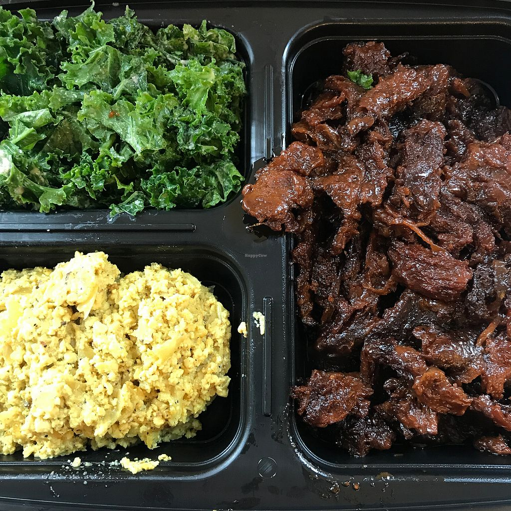 "Photo of Terri - Chelsea  by <a href=""/members/profile/The%20London%20Vegan"">The London Vegan</a> <br/>Combo box - tofu scramble, kale salad and BBQ pork  <br/> November 14, 2017  - <a href='/contact/abuse/image/20757/325771'>Report</a>"