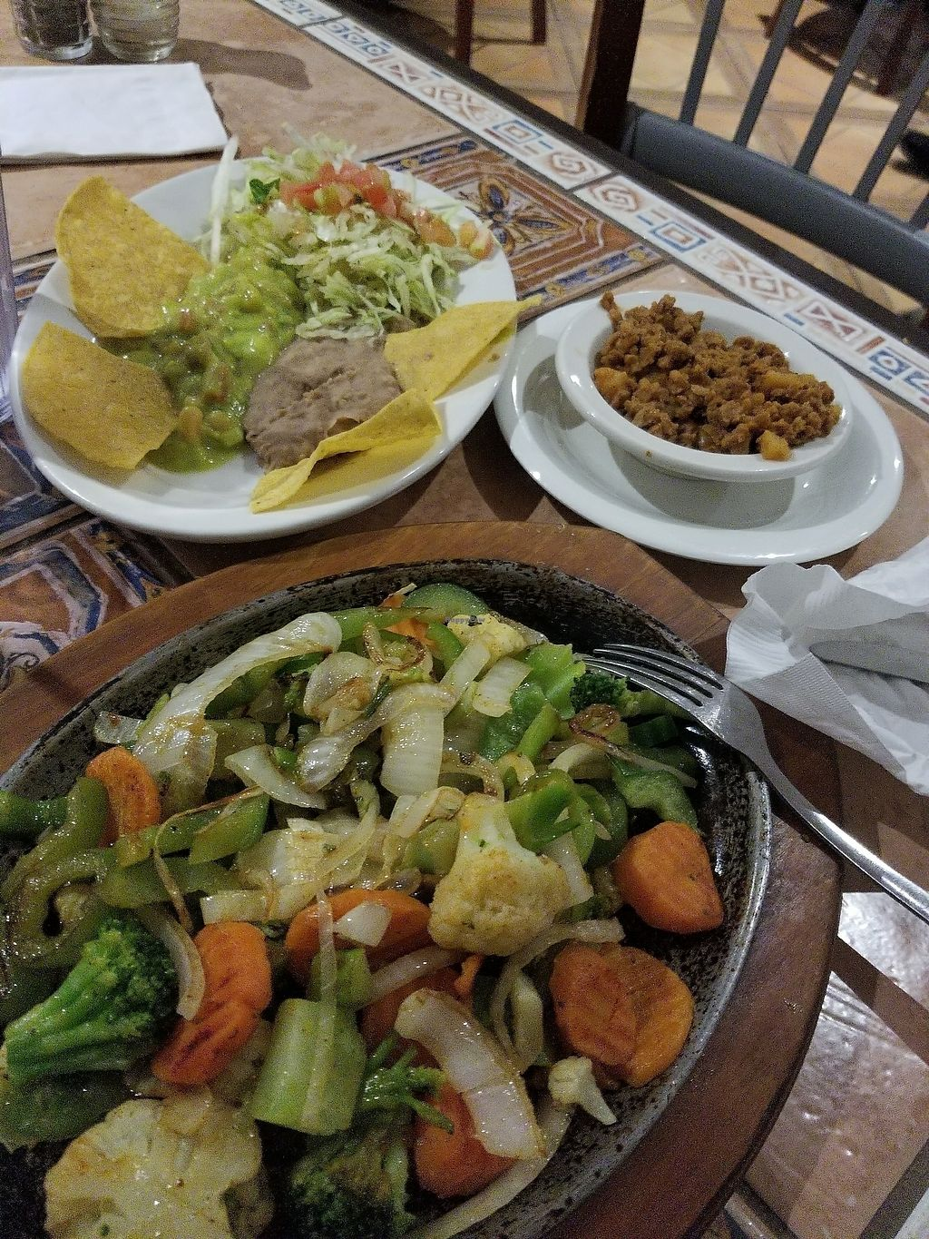 """Photo of Lolita's Mexican Restaurant  by <a href=""""/members/profile/EmmaKingdom"""">EmmaKingdom</a> <br/>Soy Meat Vegetable Fajitas <br/> August 2, 2017  - <a href='/contact/abuse/image/20787/287841'>Report</a>"""