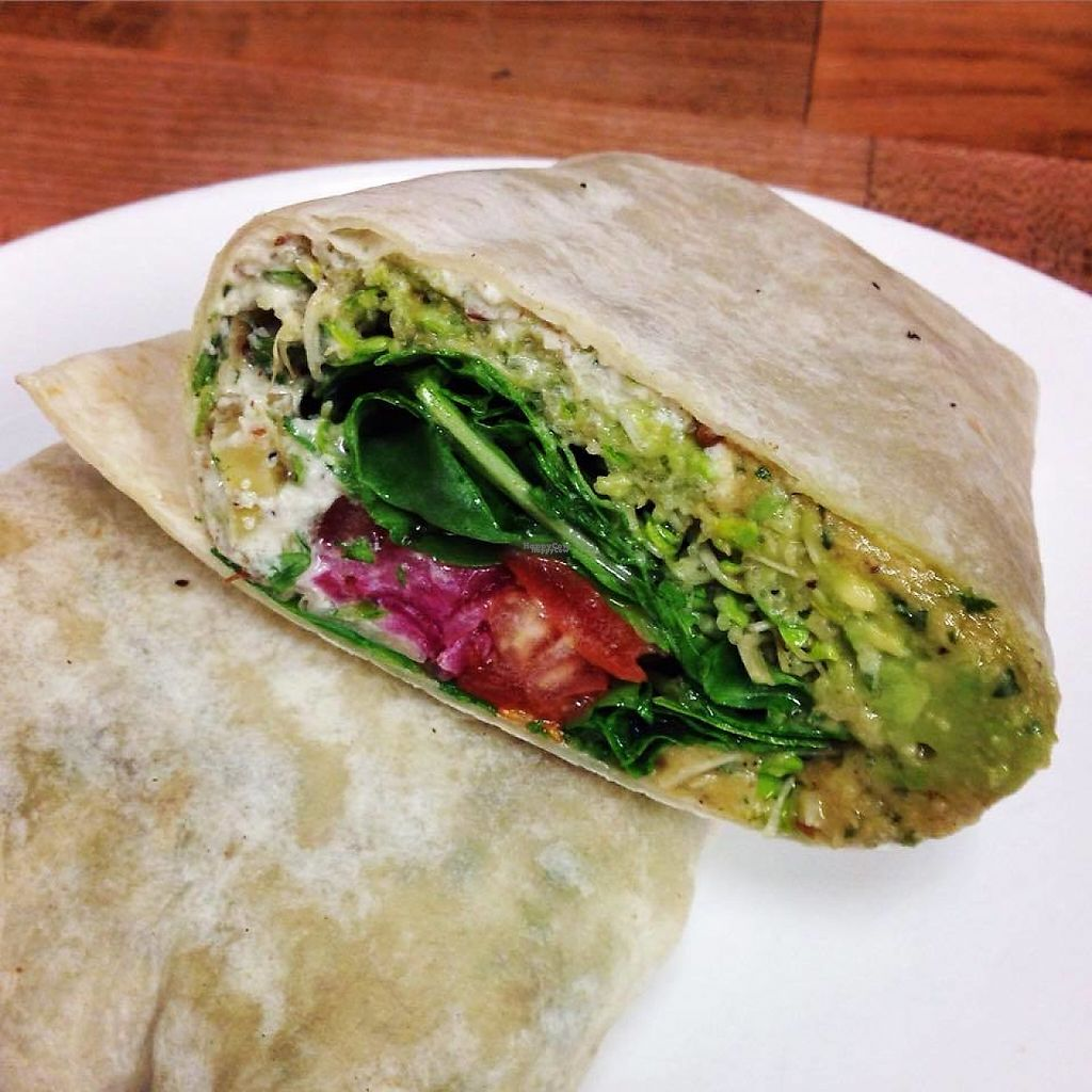 """Photo of Cafe Lumiere  by <a href=""""/members/profile/community"""">community</a> <br/>vegan wrap  <br/> February 18, 2017  - <a href='/contact/abuse/image/20824/227722'>Report</a>"""