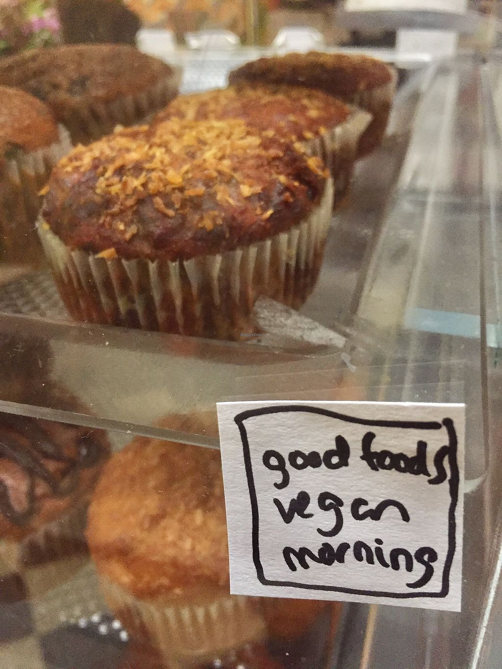 "Photo of Third Street Stuff and Coffee  by <a href=""/members/profile/happycowgirl"">happycowgirl</a> <br/>vegan muffins <br/> September 2, 2017  - <a href='/contact/abuse/image/20845/300157'>Report</a>"