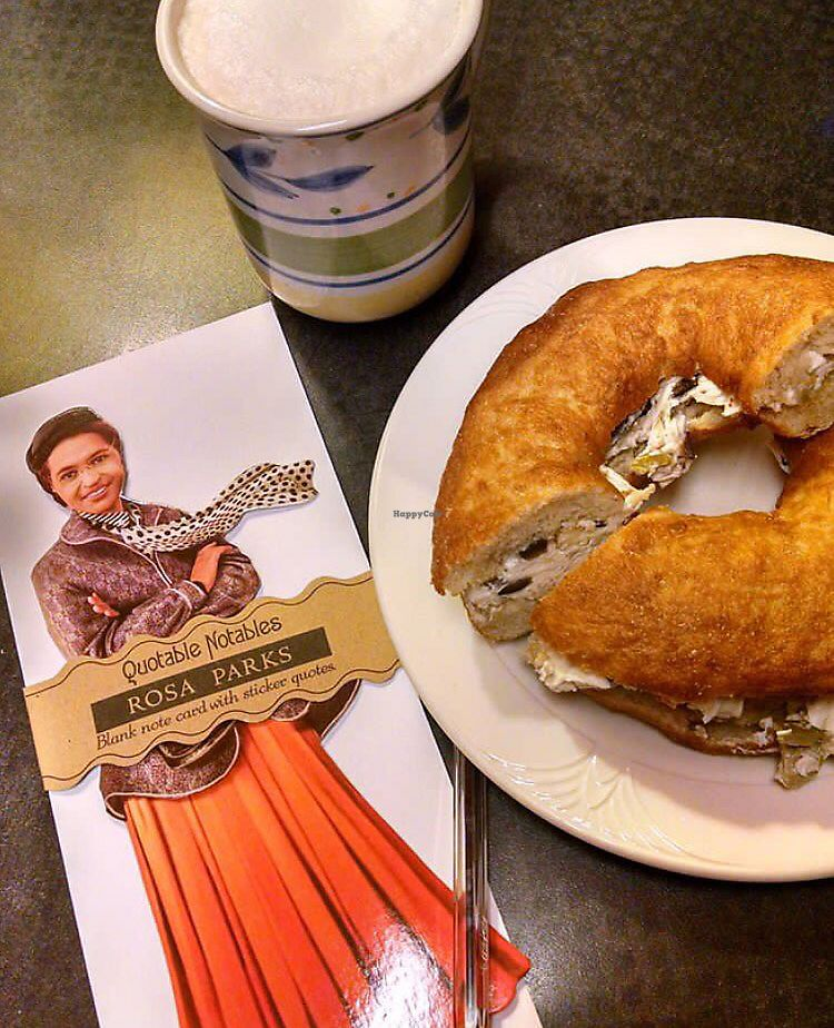 "Photo of Third Street Stuff and Coffee  by <a href=""/members/profile/happycowgirl"">happycowgirl</a> <br/>bagel, coffee & card from gift shop <br/> September 2, 2017  - <a href='/contact/abuse/image/20845/300164'>Report</a>"