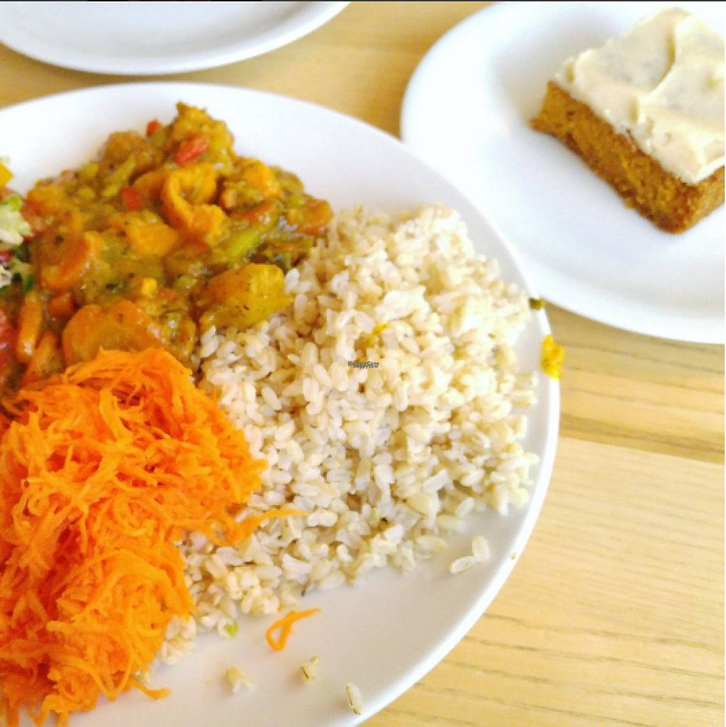 """Photo of Erdkorn  by <a href=""""/members/profile/ZestyRoxy"""">ZestyRoxy</a> <br/>Lunch at the Erdkorn Cantine. Sweet potato curry with rice and a carrot cake <br/> November 29, 2016  - <a href='/contact/abuse/image/20862/195788'>Report</a>"""