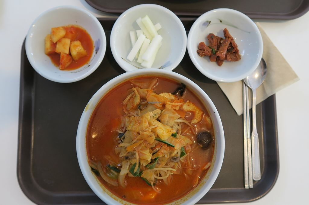 "Photo of Loving Hut - Daegu  by <a href=""/members/profile/RenAore"">RenAore</a> <br/>Jjambbong soup! With Vegan 'seafood' and noodles. Spice level was medium <br/> May 1, 2016  - <a href='/contact/abuse/image/20872/146899'>Report</a>"