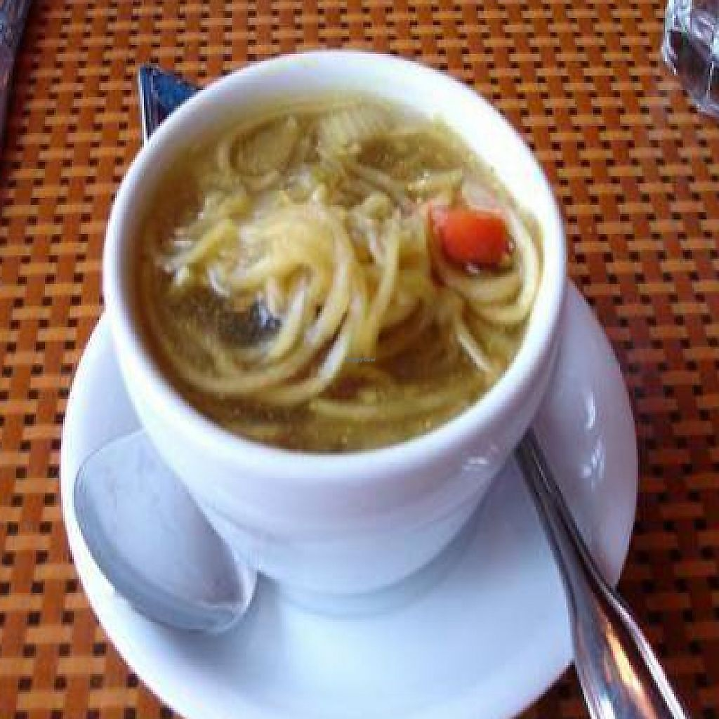 """Photo of Organic Garden Cafe  by <a href=""""/members/profile/will-travel-for-food"""">will-travel-for-food</a> <br/>Raw 'unchicken noodle' soup of the day <br/> October 22, 2009  - <a href='/contact/abuse/image/2090/202413'>Report</a>"""