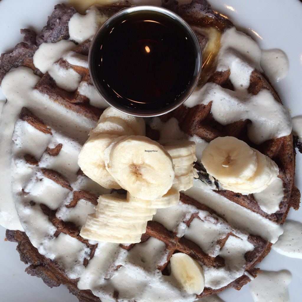 """Photo of Prasad - Pearl District  by <a href=""""/members/profile/AmeliaC"""">AmeliaC</a> <br/>Blue Cornmeal Waffle <br/> July 30, 2015  - <a href='/contact/abuse/image/20927/111639'>Report</a>"""