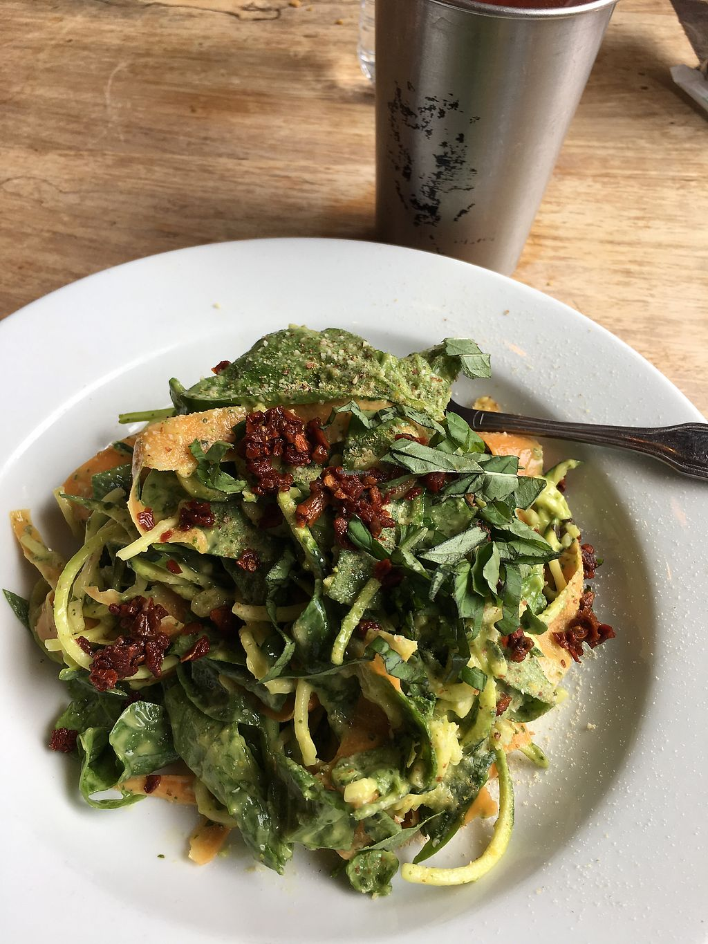 """Photo of Prasad - Pearl District  by <a href=""""/members/profile/Rucri"""">Rucri</a> <br/>raw pasta with avocado sauce <br/> August 11, 2017  - <a href='/contact/abuse/image/20927/291515'>Report</a>"""
