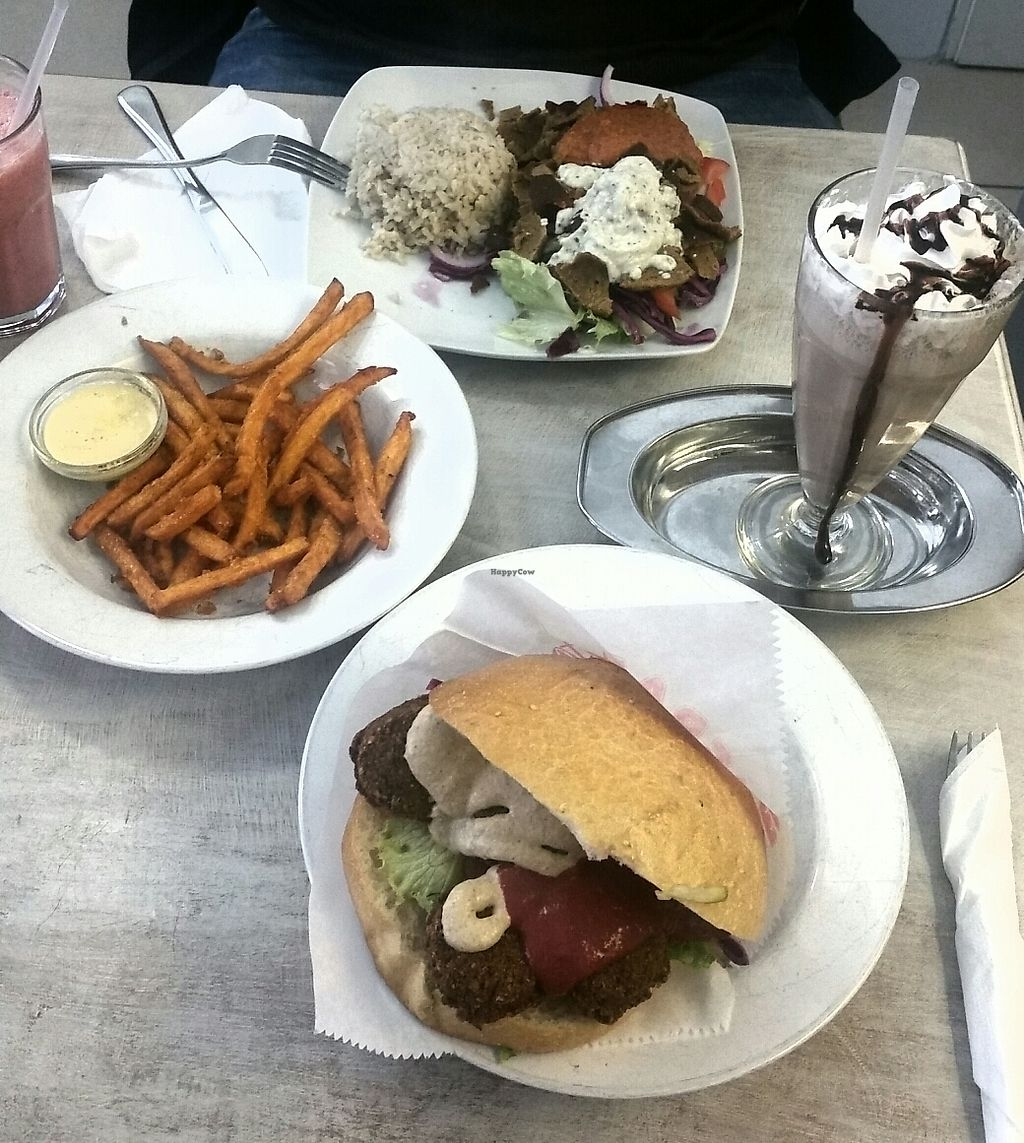 """Photo of Veganbar  by <a href=""""/members/profile/pingvild"""">pingvild</a> <br/>Falafel/Wöner/""""milk""""shake <br/> August 11, 2017  - <a href='/contact/abuse/image/20940/291535'>Report</a>"""