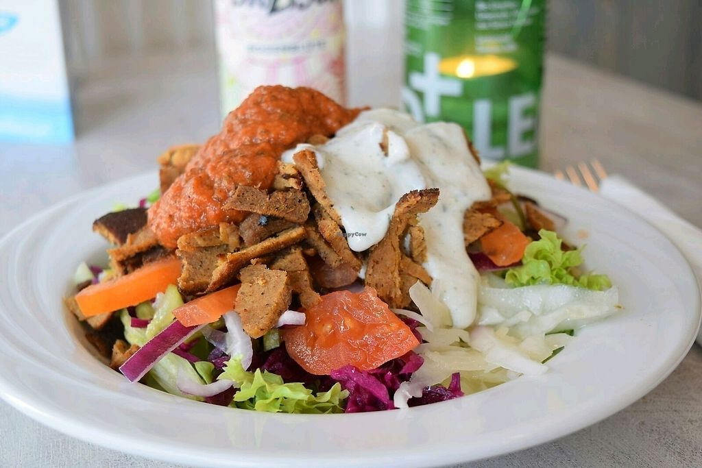 """Photo of Veganbar  by <a href=""""/members/profile/AnnaPopanna"""">AnnaPopanna</a> <br/>the vegan Kebab """"whöner"""" <br/> October 5, 2017  - <a href='/contact/abuse/image/20940/312007'>Report</a>"""