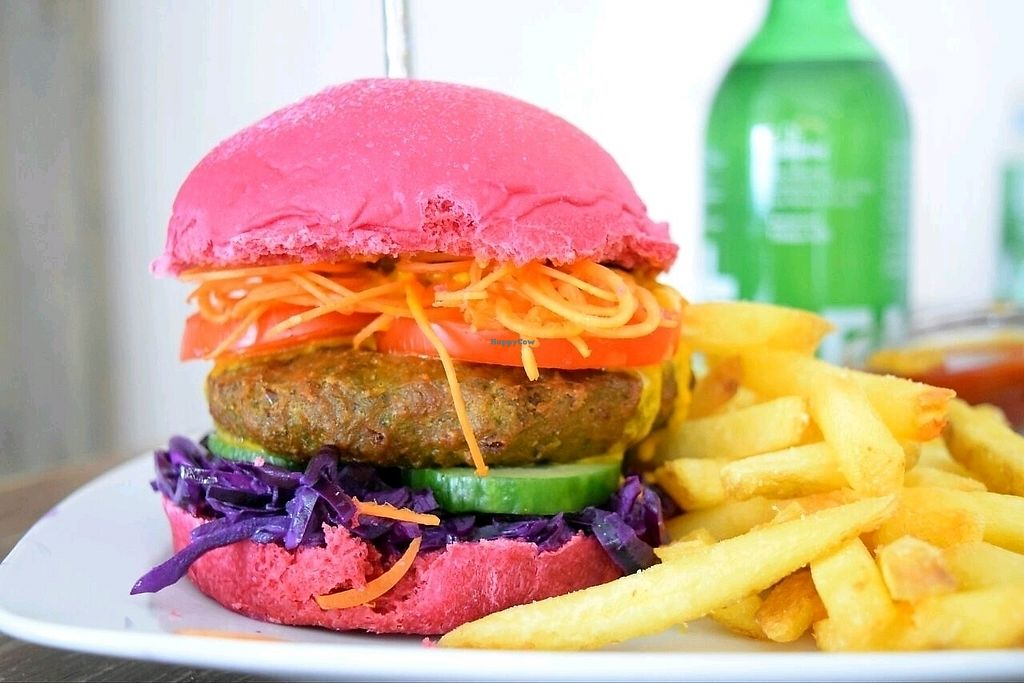 """Photo of Veganbar  by <a href=""""/members/profile/AnnaPopanna"""">AnnaPopanna</a> <br/>the Unicorn Burger ? <br/> October 5, 2017  - <a href='/contact/abuse/image/20940/312008'>Report</a>"""