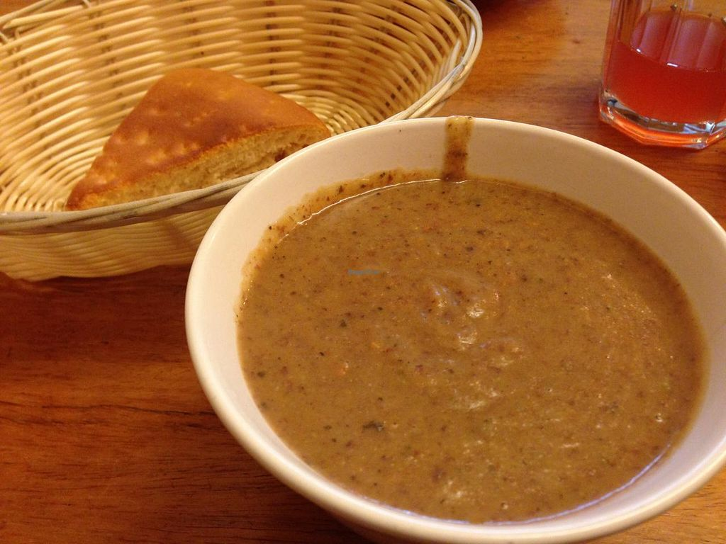 """Photo of Veganbar  by <a href=""""/members/profile/Pamina"""">Pamina</a> <br/>Potato and kidney beans soup @ Veganbar, Bremen <br/> January 11, 2015  - <a href='/contact/abuse/image/20940/90115'>Report</a>"""